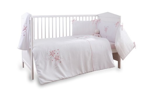 Grey Diamonds 3 Piece Baby Bedding Set with 3-Sided Bumper to fit 120x60 cm Cot