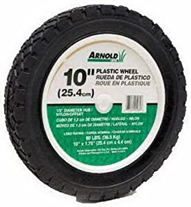Arnold 490-323-0002 10-Inch Offset Plastic Lawn Mower Wheel from Arnold