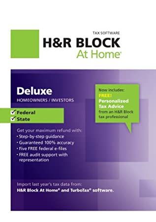 H&#038;R Block At Home Deluxe + State 2012 [Download]