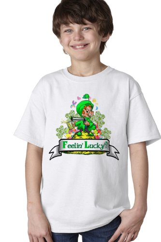 FEELING LUCKY? LEPRECHAUN Youth T-shirt / Lucky St. Patrick's Day Ireland Pride Tee