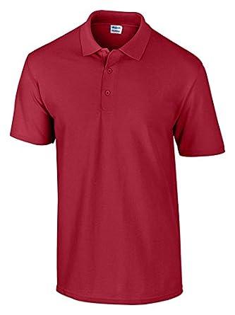 Gildan Men's DryBlend Wicking Piqué Polo Shirt, Cardinal Red, Small. 94800