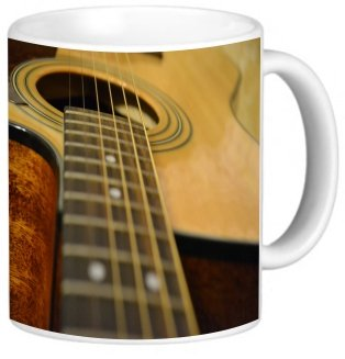 Rikki Knighttm Acoustic Guitar Design 11 Oz Photo Quality Ceramic Coffee Mug Cup - Fda Approved - Dishwasher And Microwave Safe