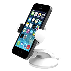 iOttie Easy Flex 3 Car Mount Holder for iPhone 6/5s/5c/4s, Samsung Galaxy S4/S3 - Retail Packaging - White