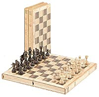 CHH Imports 11Inch Oak Book Style Chess Set