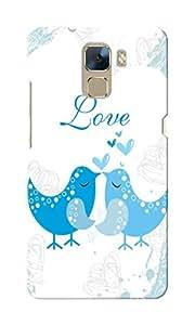 KnapCase Love Birds Designer 3D Printed Case Cover For Huwaei Honor 7