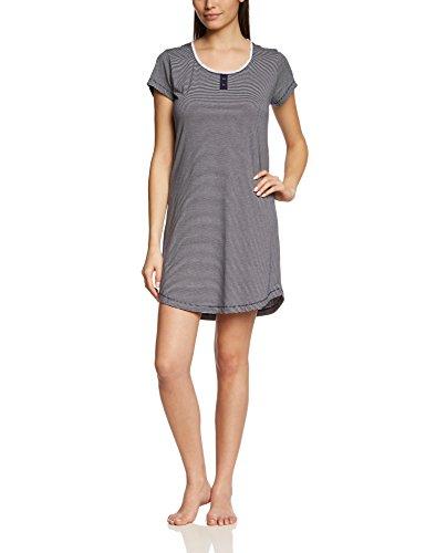 ESPRIT Damen Nachthemd CANDICE CASNW, Gestreift, Gr. 44, Blau (RICH NAVY 440)