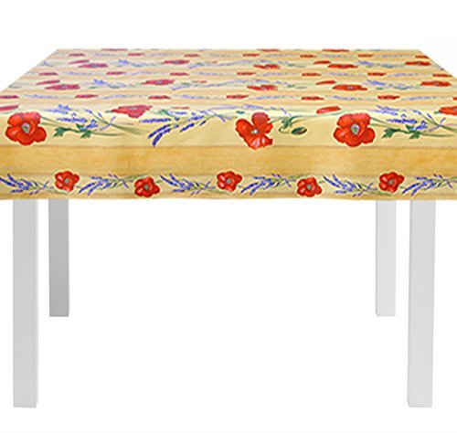 square-60-x-60-inch-stain-resistant-coated-tablecloth-poppies-and-lavender-in-gold-indoor-and-outdoo