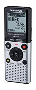 Olympus VN-712PC Voice Recorder with Flash 2GB Memory, WMA, MP3 and Up to 72 Hours Battery Life - Silver