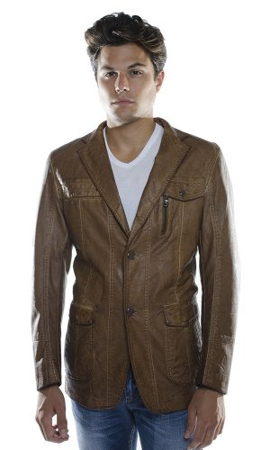 Barabas Men'S Illusion Blazer Coffee Medium back-361057