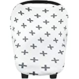 """Baby Car Seat Cover Canopy And Nursing Cover Multi-Use Stretchy 3 In 1 Gift """"The Swiss"""" By Copper Pearl"""
