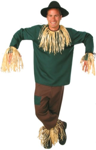 Large Men's Deluxe Scarecrow Costume (Size 44 to 46)