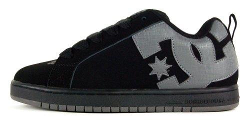 DC Men's Court Graffik Sneaker,Black/Battleship/Black,9 M US