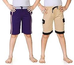 Dongli Boys 2pcs Combo Jersey Knee Shorts