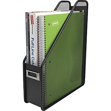 Staples Black Wire Mesh Desktop File Holder for Books, Notebooks and Magazines - 12-1/4 x 3 x 10-inches