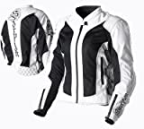 Scorpion Nip Tuck Ladies Textile Mesh Motorcycle Jacket Off White XXL 2XL