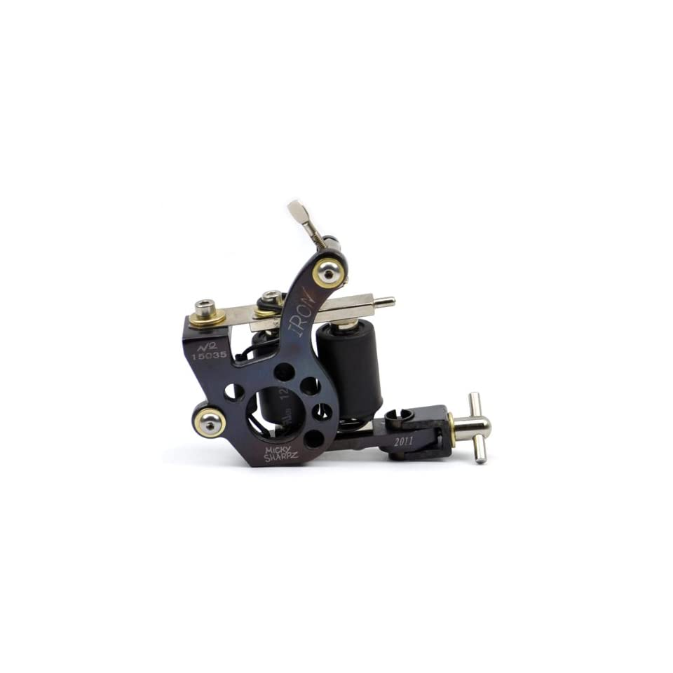 Pattern Cast Iron Frame 8 Wrap Coil Dual coiled Tattoo Machine Liner