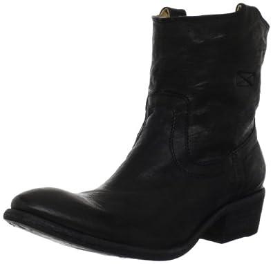 FRYE Women's Carson Tab Short Ankle Boot,Black,5.5 M US