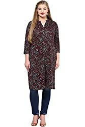 Alto Moda by Pantaloons Women's Tunic ( 205000005648294, Red, XXX-Large)