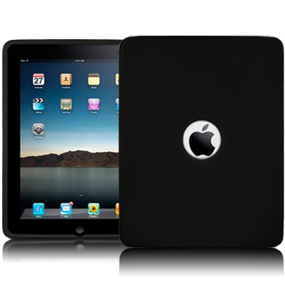 APPLE IPAD SOFT SILICON SKIN CASE - BLACK PART OF THE QUBITS ACCESSORIES RANGE