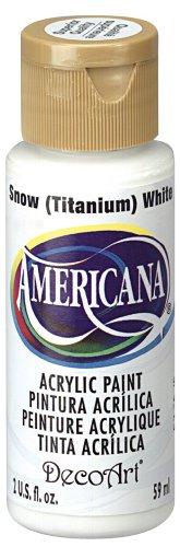 DecoArt Americana Acrylic Paint, 2-Ounce, Titanium White