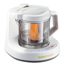 Baby Brezza One Step Baby Food Maker, White/Grey