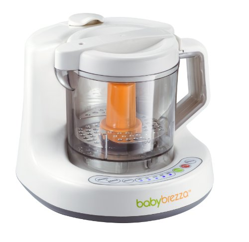 Baby Brezza One Step Baby Food Maker, White/Grey front-95308
