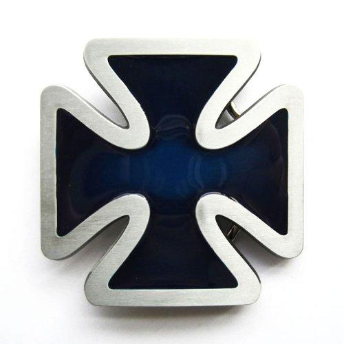 Hogar Mens Zinic Alloy Cross Belt Buckle Iron Cross Blue Buckles Color Blue