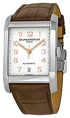 Baume et Mercier Classima Silver Dial Brown Leather Watch MOA10156