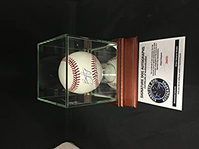 Bryce Harper Autographed Signed MLB Baseball Nationals With Display Case