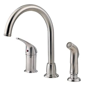 Pfister Cagney 1-Handle Kitchen Faucet with Side Spray