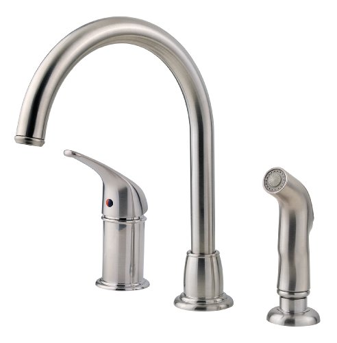 Pfister Cagney 1-Handle Kitchen Faucet with Side Spray, Stainless Steel