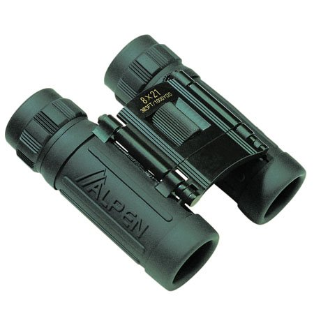Alpen Optics Sport 8X21 Green Rubber Armored Compact Binocular