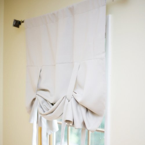 Buying Blackout Window Curtains Online: Tie-Up Shade Solid Insulated ...