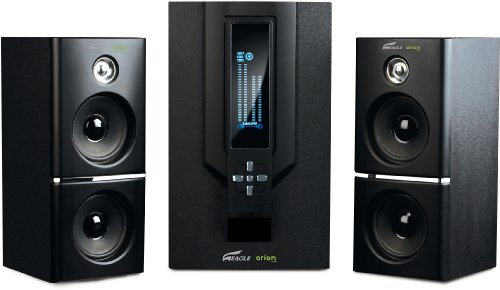 Eagle Tech ET-AR504LR-BK 2.1 Soundstage Speakers with Subwoofer & Remote