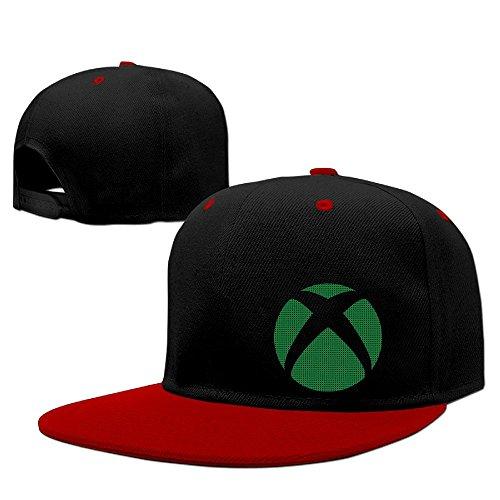 Fashion XBOX Video Game Logo Hip Hop Hat Baseball Cap Red