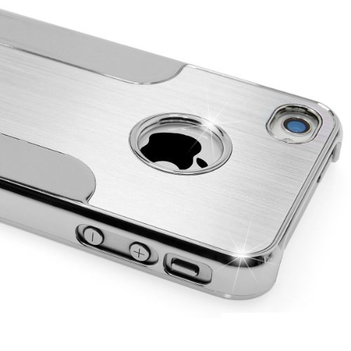 Premium Chrome Aluminum Skin Hard Back Case Cover