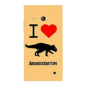 Skin4gadgets I love Archaeoceratops Colour - Peach Puff Phone Skin for LUMIA 730 (ONLY BACK)