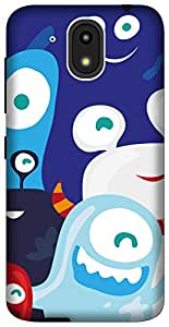 The Racoon Grip printed designer hard back mobile phone case cover for HTC Desire 526G Plus. (Monster Cl)