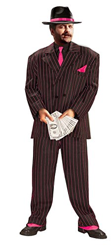 Forum Roaring 20's Jazzy Pink Striped Gangster Costume Suit