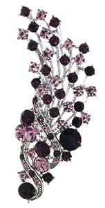 Jodie Rose 'Amethyst' Colour Crystal Flower Spray Brooch