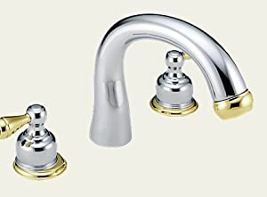 Delta Botanical T2780 CBLHP Bathroom Roman Tub Faucets Chrome Polished Brass