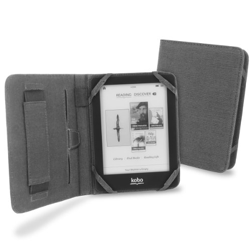 Cover-Up Custodia Vision in Canapa Naturale per Kobo Glo eBook Reader - Colore Grigio Ardesia