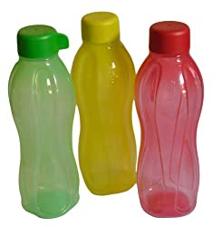 Tupperware Aquasafe Bottle, Multicolor, 500ml, Set of 3
