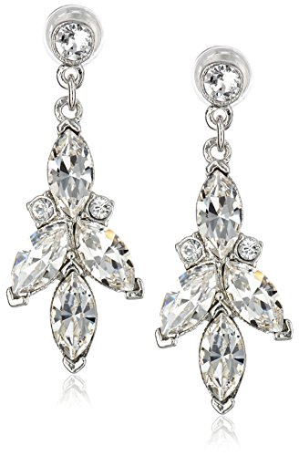 Ben-Amun Jewelry Clear-Crystal Three-Point Drop Ea…