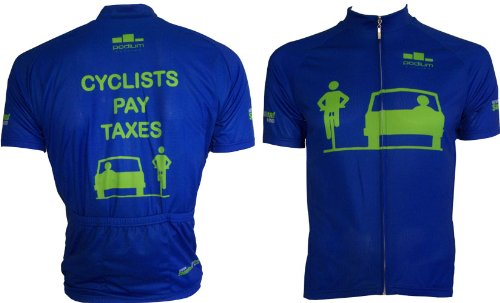Image of Cyclist Pay Taxes 3.0 Cycling Jersey (B005J6BUVI)