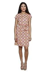 LEBE Women's Multi Coloured Poly Crepe Dress