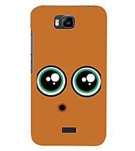PrintDhaba SMILEY D-6364 Back Case Cover for HUAWEI HONOR BEE (Multi-Coloured)