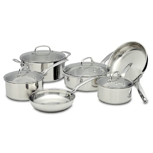 Potobelo italia 10 piece cookware set kitchen for Kitchen set amazon
