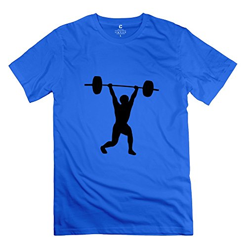 Yongth Men'S Weightlifting 100% Cotton T-Shirt - Cool T Shirts Royalblue Us Size Xl