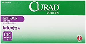 Medline Curad Bacitracin Ointment, 144 Count